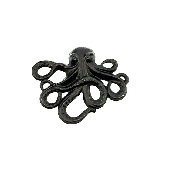 GASOLINE GLAMOUR Jewelry - GASOLINE GLAMOUR FLAT BLACK OCTOPUS PENDANT